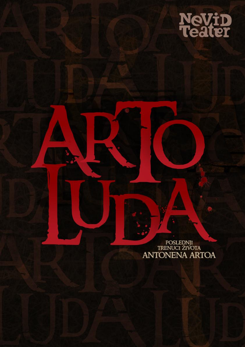 plakat Arto Luda Nevid teatar